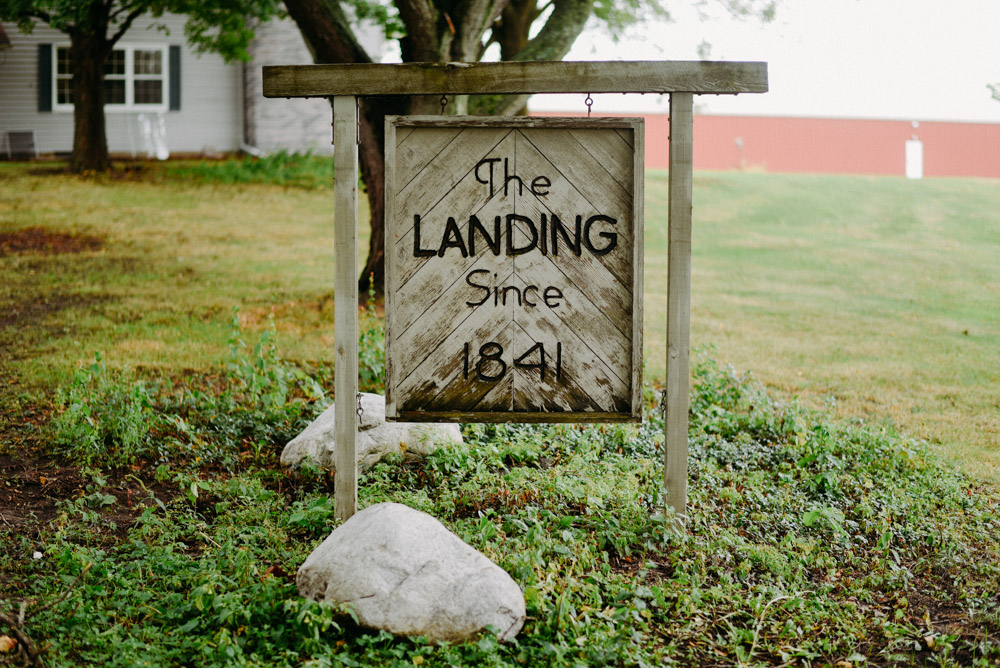 landing 1841 wedding sign