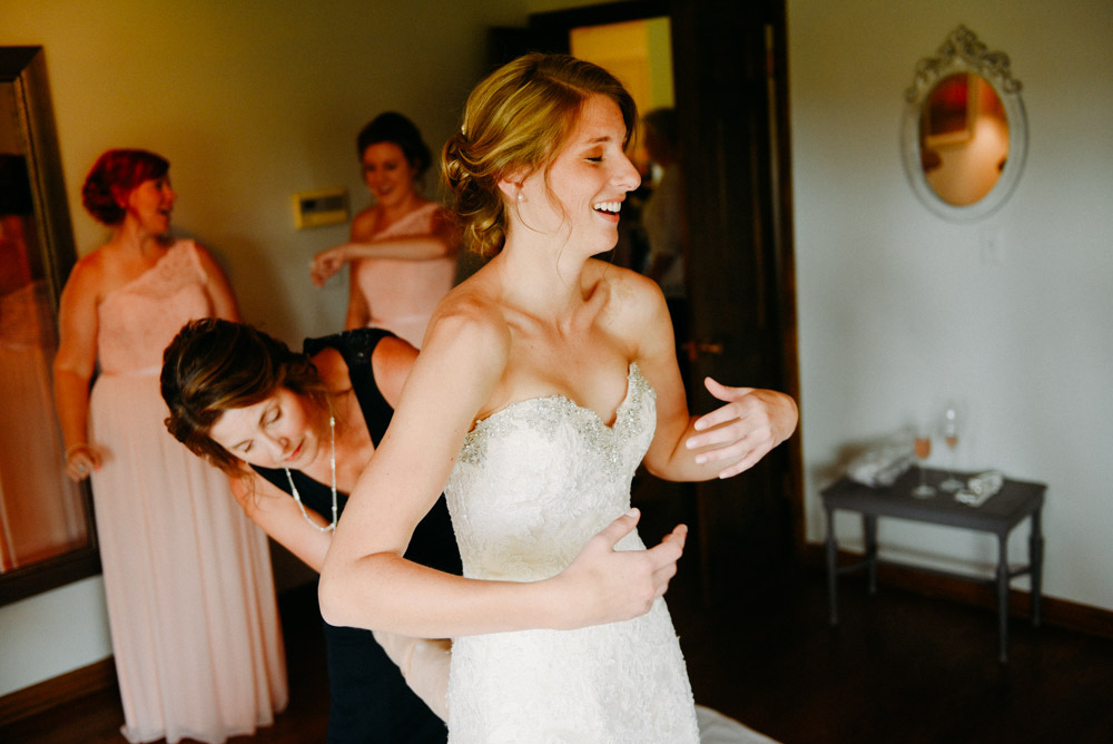 bride nerves before wedding ceremony