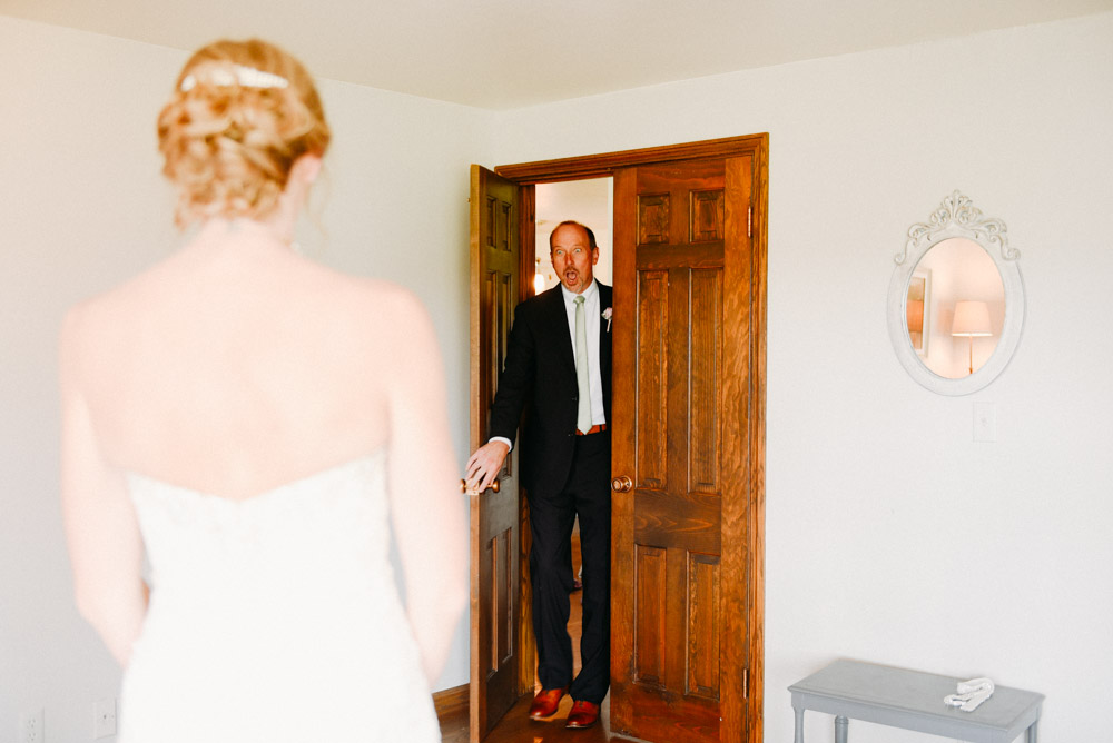 father amazed at bride's beauty