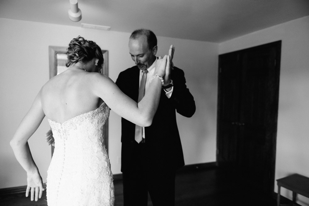 father of bride dancing in landing 1841 farmhouse room