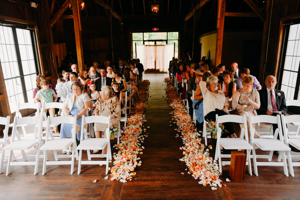 indoor landing 1841 wedding in barn