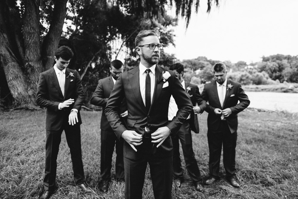 vintage groom with groomsmen in burlington wisconsin