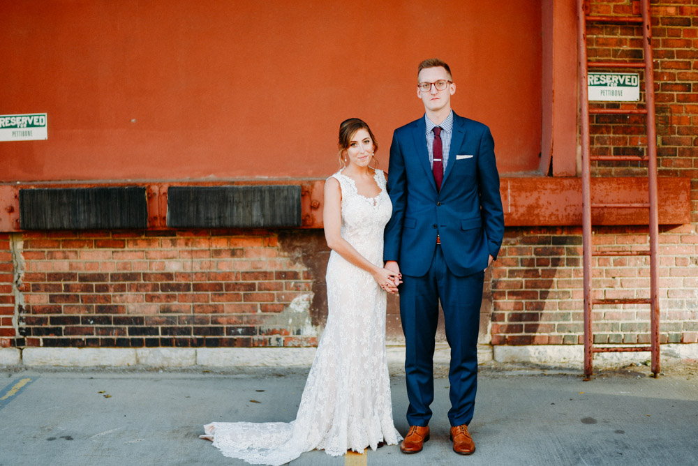 stoic married couple at anodyne coffee wedding