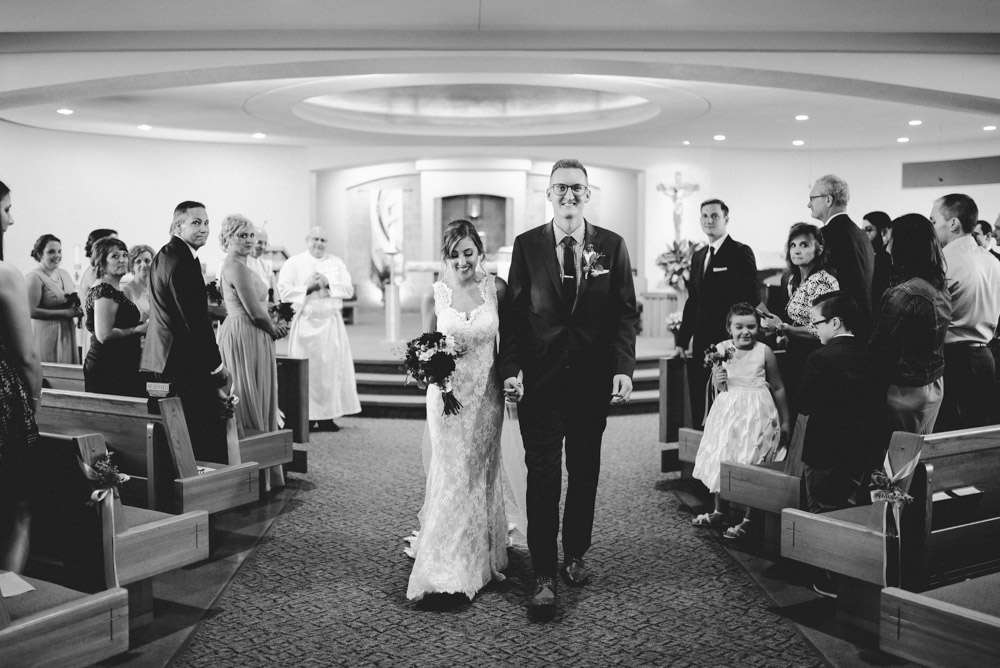 leaving church as husband and wife