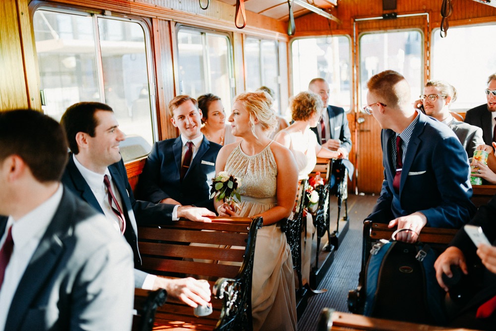 milwaukee trolley for weddings in winter