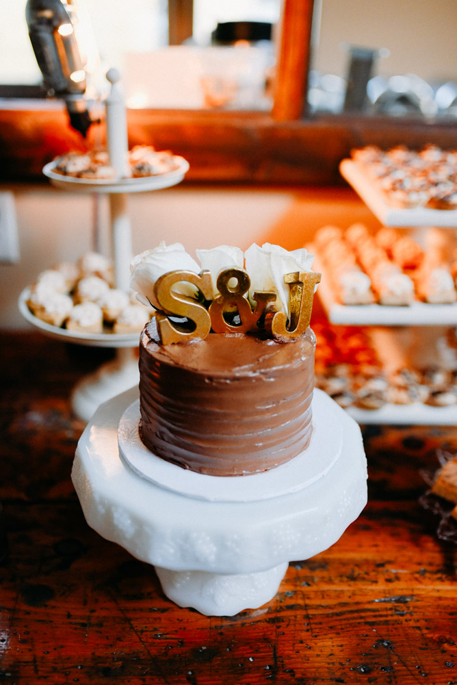 adorable cake with gold lettering
