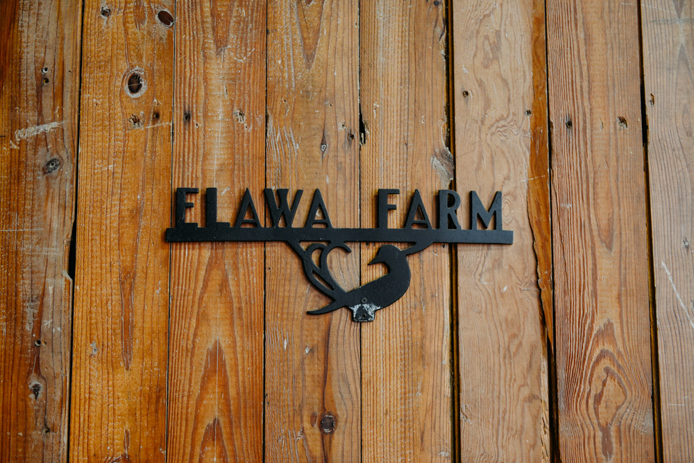 elawa farm iron sign on reclaimed wood