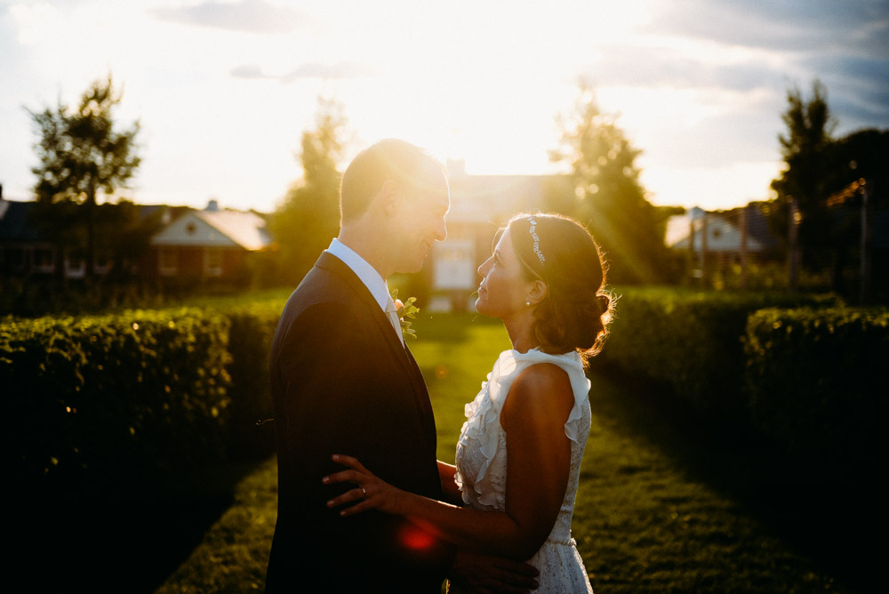 sunset after elawa farm wedding in september