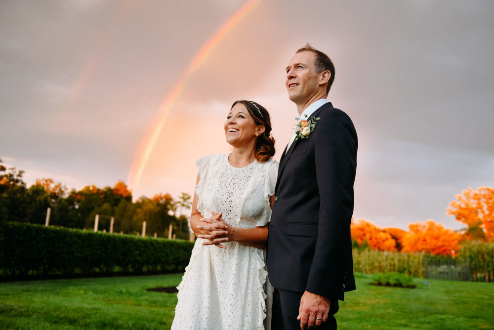 rainbow at elawa farm wedding