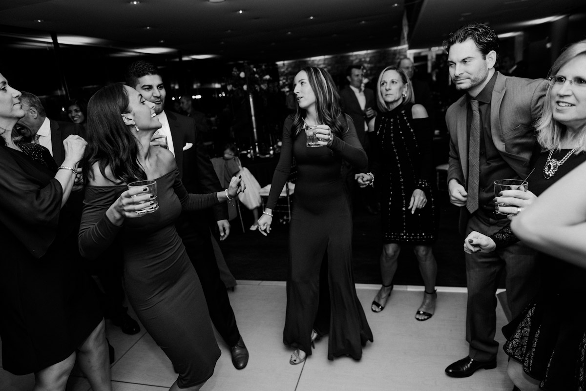 dancing with drinks in hand