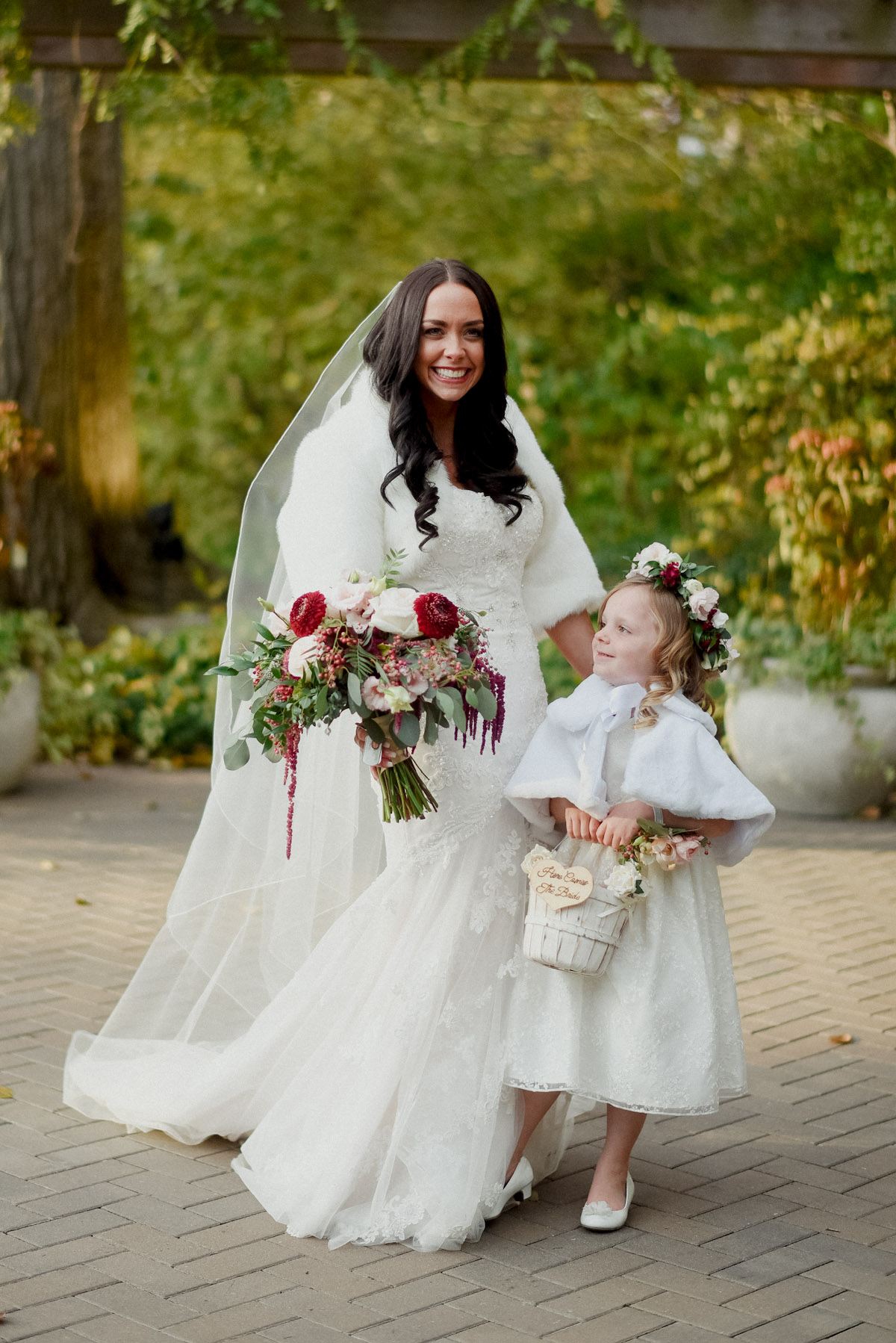 adorable photo of flower girl in flower crown