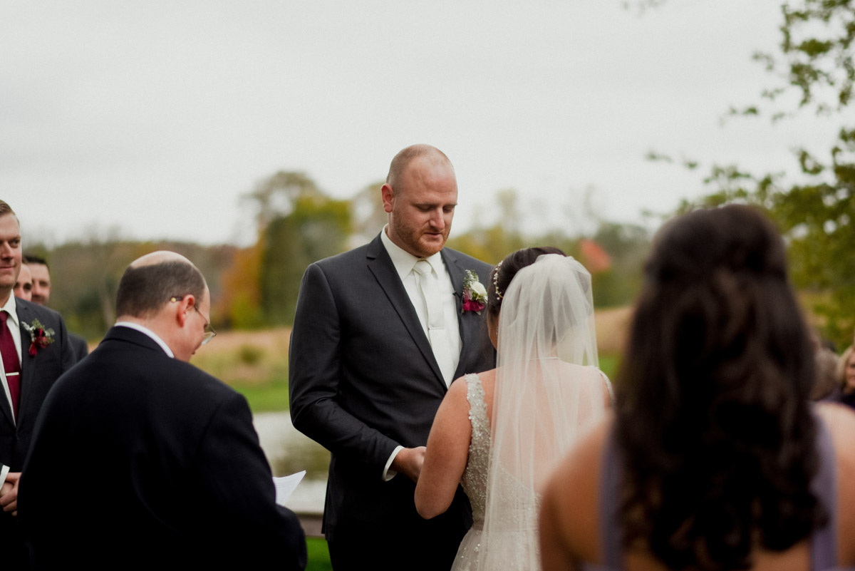 saying the vows at ceremony