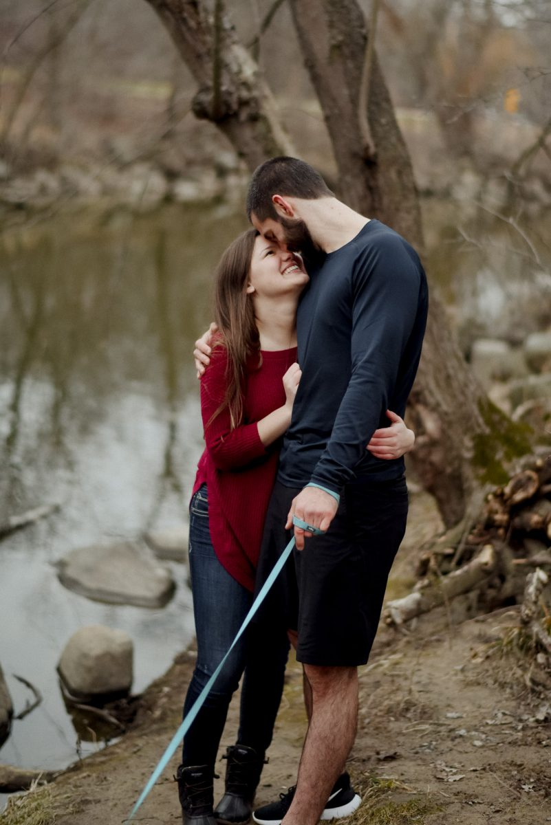 engagement photos in wisconsin springtime