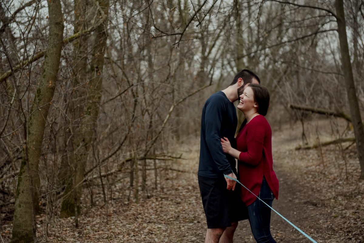 engagement photos in milwaukee winter